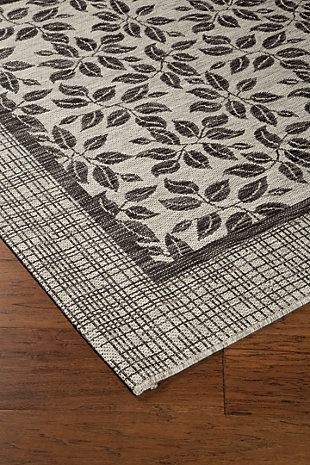 "Jelena 5'3"" x 7'3"" Indoor/Outdoor Rug, Tan/Gray, rollover"