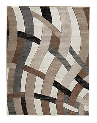 "Jacinth 6'6"" x 9'6"" Rug, Brown, large"