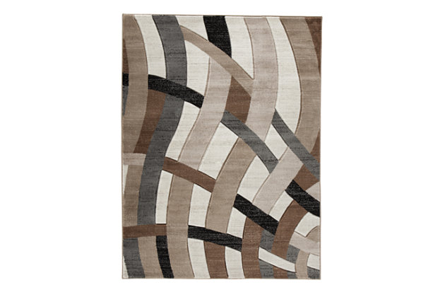 "Jacinth 5' x 6'7"" Rug, Brown, large"