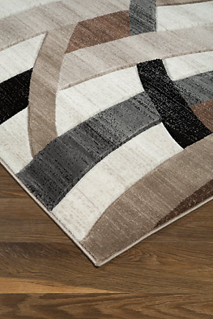"Jacinth 5' x 6'7"" Rug, Brown, rollover"