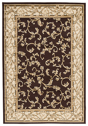 "Jameel 5' x 7'3"" Rug, Brown/Gold, large"