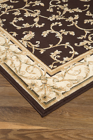 "Jameel 7'6"" x 9'6"" Rug, Brown/Gold, rollover"