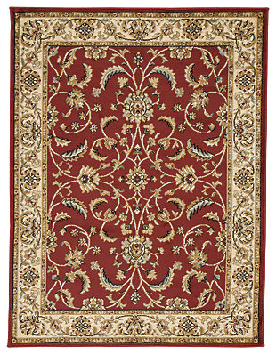 Jamirah 5' x 7' Rug, Red/Brown, large