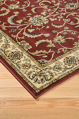 Jamirah 5' x 7' Rug, Red/Brown, rollover