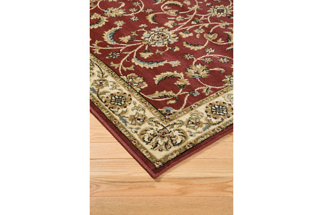 Jamirah 5' x 7' Rug, Red/Brown, large