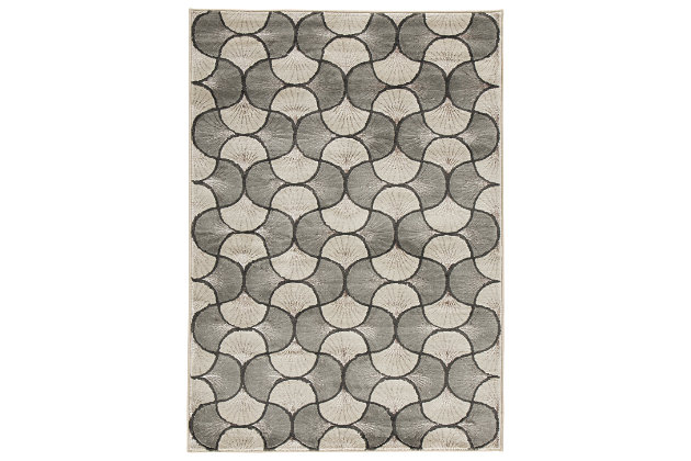 "Jaquan 7'10"" x 9'10"" Rug, Metallic, large"