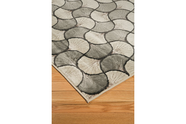 "Jaquan 5' x 7'3"" Rug, Metallic, large"