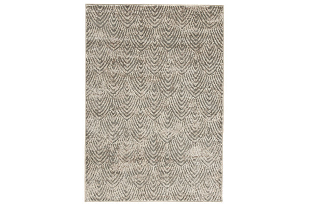"Robert 5' x 7'3"" Rug, Metallic, large"