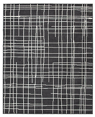 Jai 5' x 7' Rug, Black/Cream/Gray, large