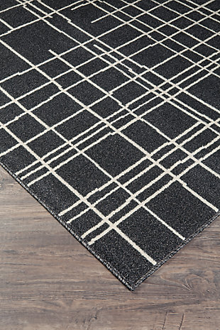 Jai 5' x 7' Rug, Black/Cream/Gray, rollover