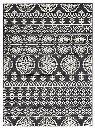 Jicarilla 5' x 7' Rug, Black/Cream/Gray, large