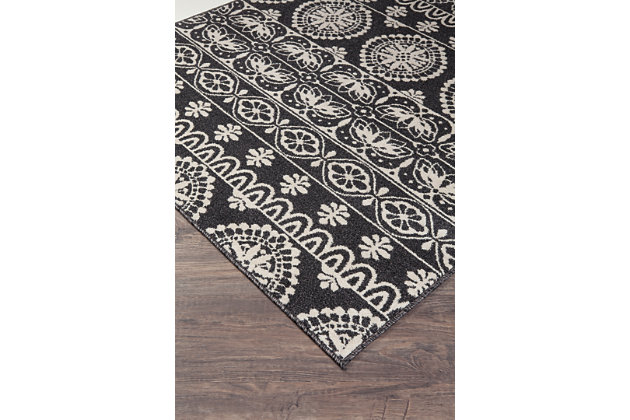Jicarilla 8' x 10' Rug, Black/White, large
