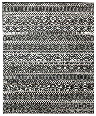 Joachim 5' x 7' Rug, Black/Tan, large
