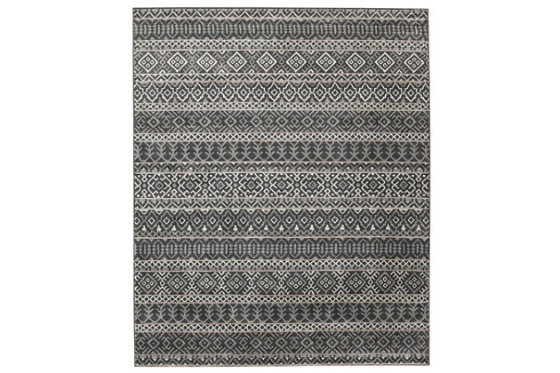"Joachim 7'10"" x 9'10"" Rug, Black/Tan, large"