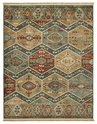 "Brooklie 5'3"" x 7' Rug, Multi, large"