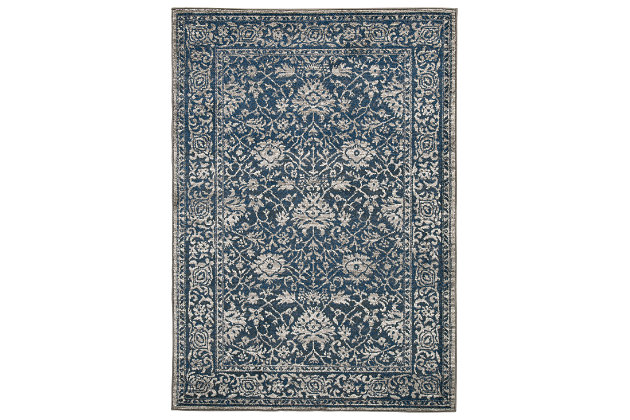 "Maxton 5'3"" x 7'6"" Rug, Blue/Gray, large"
