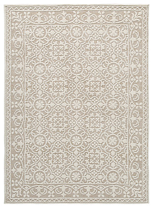 Beana 5' x 7' Rug, Ivory/Beige, large