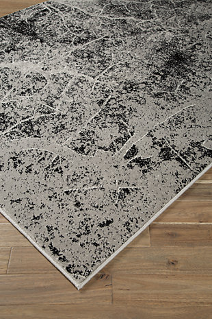 Cailey 5' x 7' Rug, Black/Gray, rollover