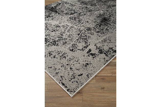 Cailey 5' x 7' Rug, Black/Gray, large