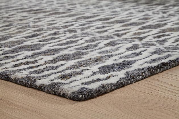 Esmee Medium Rug, Gray/Ivory, large