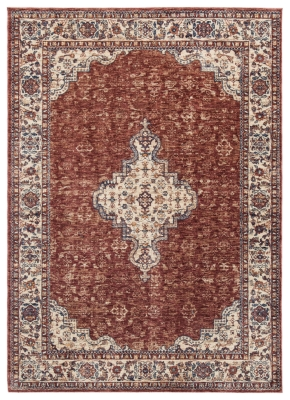 """Haydrien 5' x 7'1"""" Rug, Red, large"""
