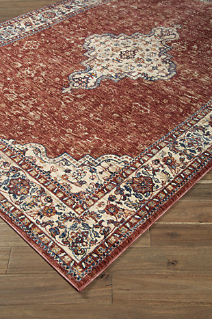 "Haydrien 5' x 7'1"" Rug, Red, large"
