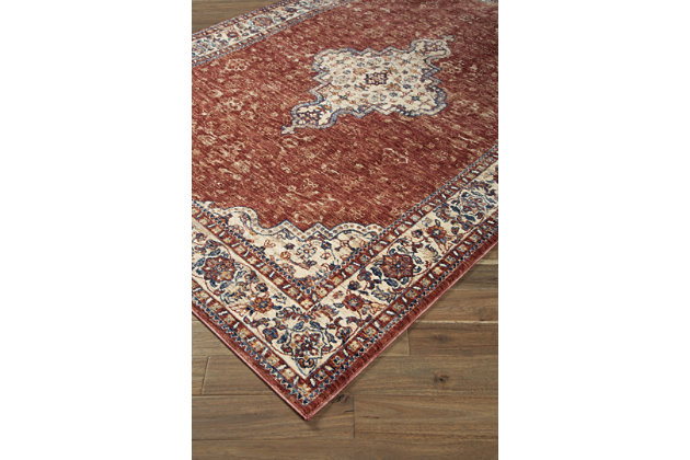 "Haydrien 7'5"" x 9'5"" Rug, Red, large"