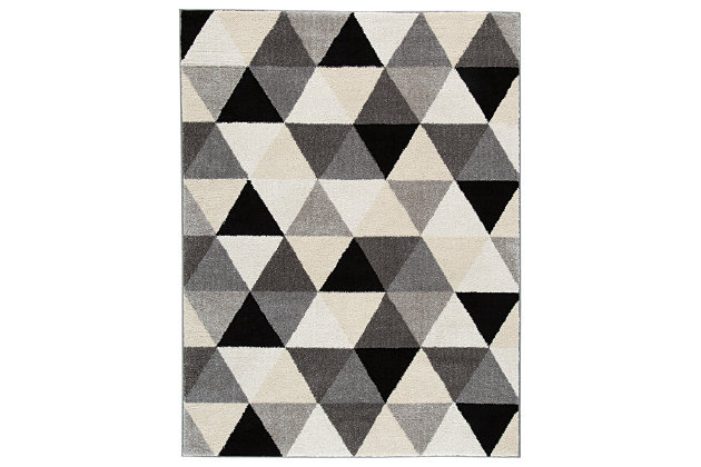 Jamaun 5' x 7' Rug, Black/Cream, large