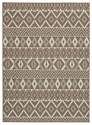 "Donaphan 5'3"" x 7' Rug, Tan/Cream, large"