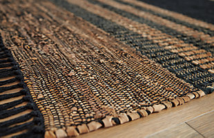 Zoran 8' x 10' Rug, Black/Brown, large