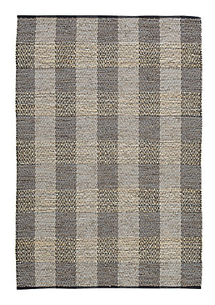 Christoff 5' x 7' Rug, Taupe/Black, large