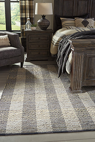 Christoff 5' x 7' Rug, Black/Taupe/Cream, rollover