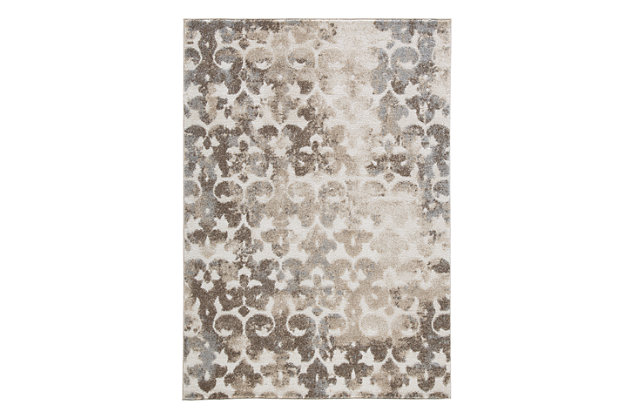 Jiro 5' x 7' Rug, Brown/Cream, large