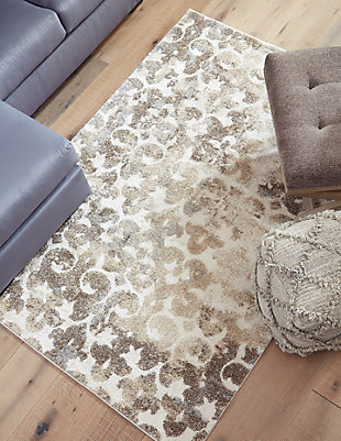 Jiro 5' x 7' Rug, Brown/Cream, rollover