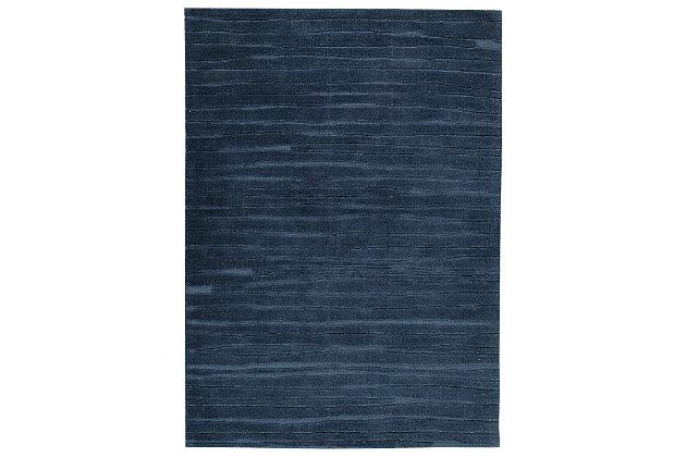 Royer 5' x 7' Rug, Navy Blue, large