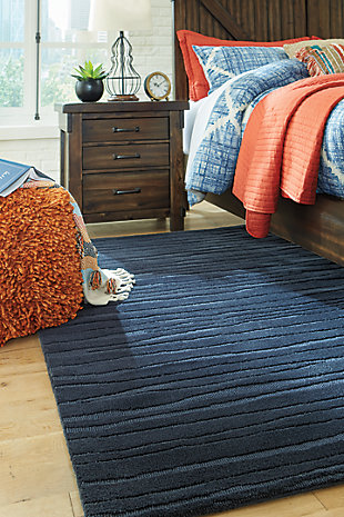 Royer 5' x 7' Rug, Blue, rollover