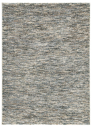 Marnin 5' x 7' Rug, Tan/Blue/Cream, large