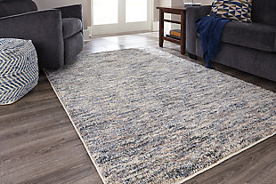 Marnin 5' x 7' Rug, Tan/Blue/Cream, rollover