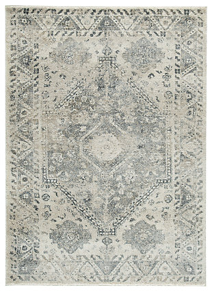 "Precia 5'3"" x 7'3"" Rug, Gray/Cream, large"