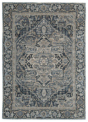 "Paretta 5'3"" x 7'3"" Rug, Cream/Navy/Gray, large"