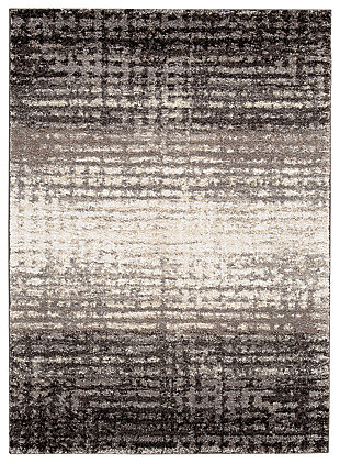 Marleisha 5' x 7' Rug, Black/Brown/Cream, large