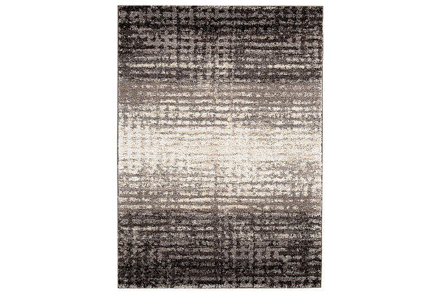 Marleisha 5' x 7' Rug, Black/Natural, large