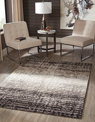 Marleisha 5' x 7' Rug, Black/Brown/Cream, rollover