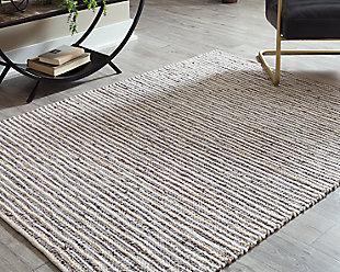 Kallita 5' x 7' Rug, Natural/Gray, rollover