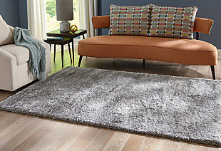 "Rendale 7'10"" x 9'10"" Rug, Light Gray, rollover"