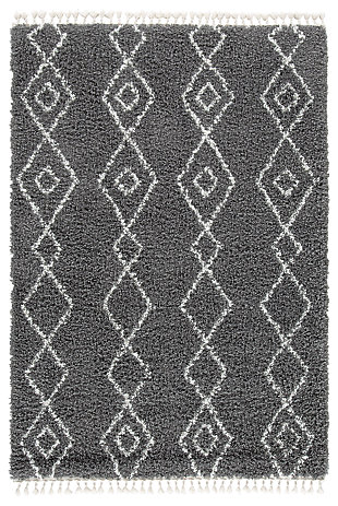 "Maysel 7'10"" x 9'10"" Rug, Charcoal/White, large"