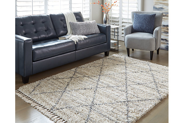 "Abdalah 7'10"" x 9'10"" Rug, Gray/Cream, large"