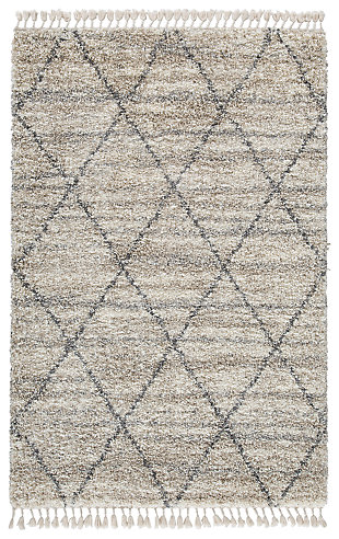 Abdalah 5' x 7' Rug, Gray/Cream, large
