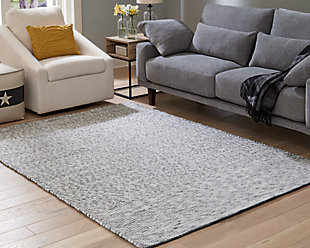 Jonalyn 5' x 7' Rug, Charcoal/Gray/White, rollover
