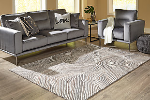 Wysleigh Medium Rug, Ivory/Brown/Gray, rollover